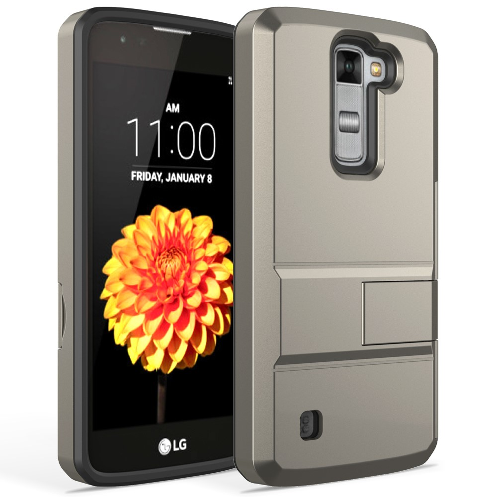 Premium Dual Layer Hybrid Shockproof Kickstand Cover Case ,Card Slot Case For LG LS775