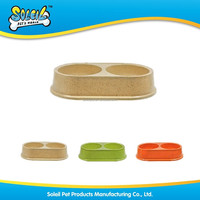 Hot Sale Pet Item Natural Bamboo Pet Bowl With Many Colors