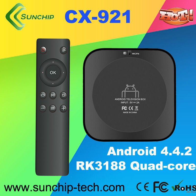 Newest!! CX-921 Android 4.2 OS RK3188 TV Box Quad Core ARM Cortex-A9 1.8GHz 1GB RAM 8GB ROM Wifi HDMI IR Reciever