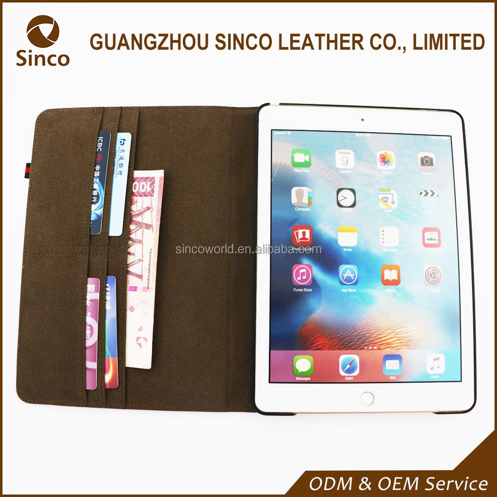 OEM fashionable pu shockproof leather tablets pc case