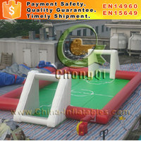 New durable inflatable soccer field inflatable football soap soccer field