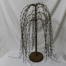 Burgundy 24 inch pip berry weeping willow tree standing decorative willow tree