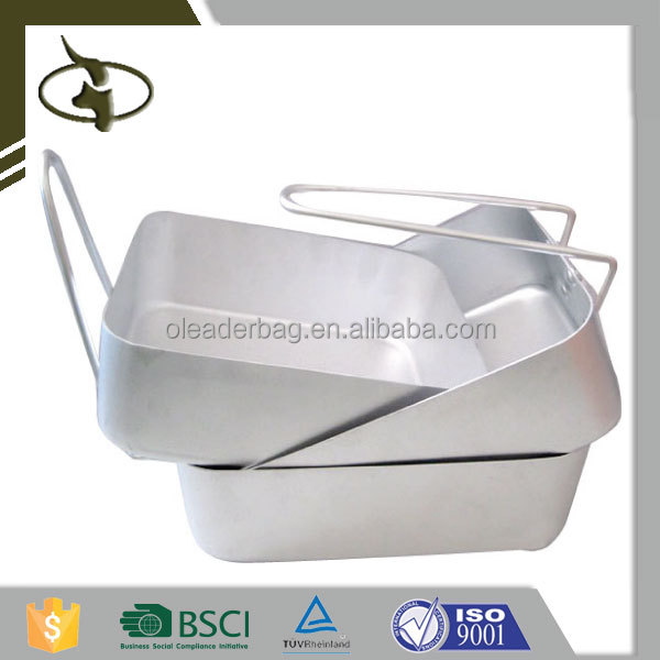 China Supplier Hot Sale Military Aluminum Mess Tin For Lunch