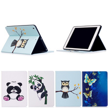 Factory Price Cute Cartoon Colorful Paint Leather Protective Cover for iPad Pro 9.7 2017