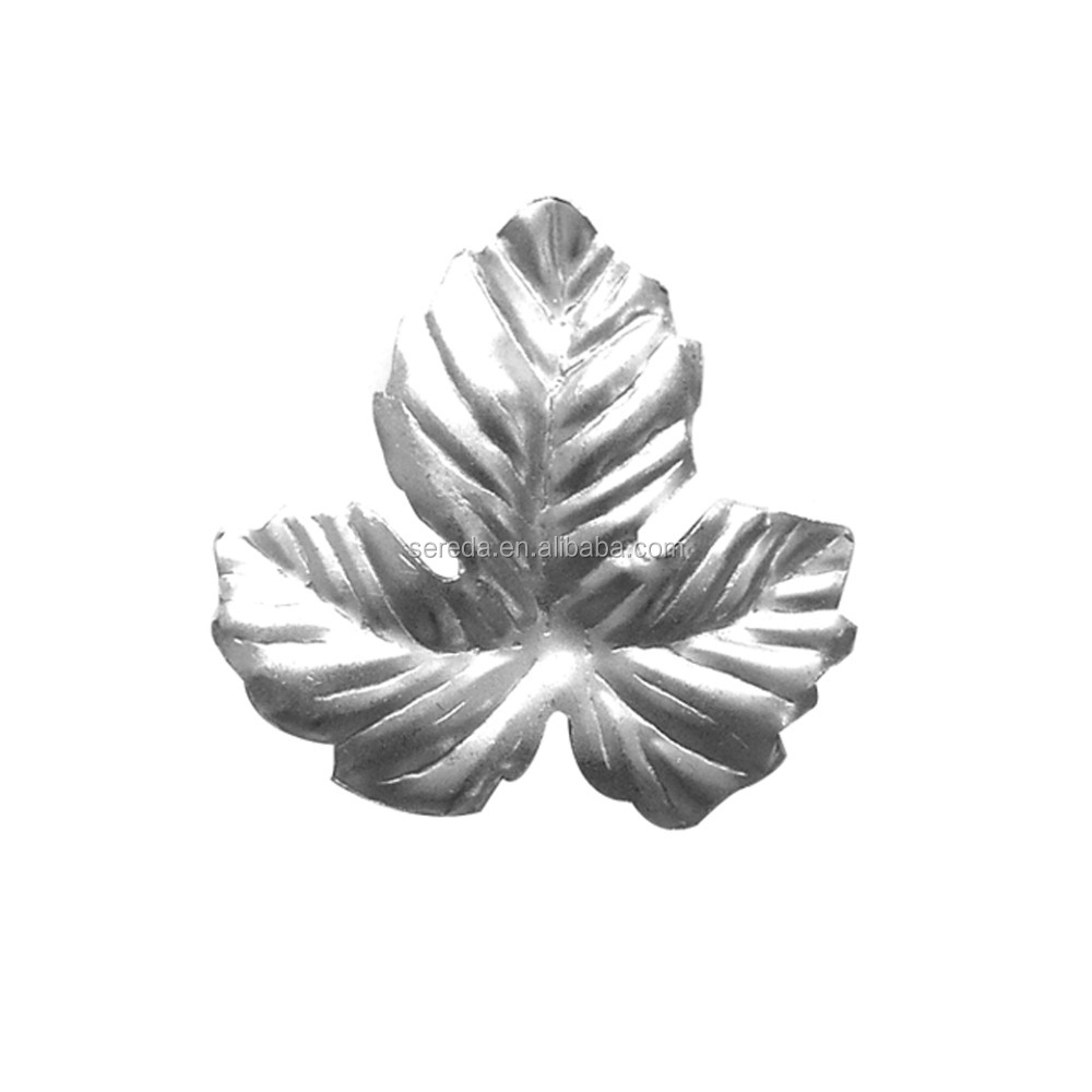 2017 new model stamping leaf wrought iron rosette cheaper wrought iron stamped leaves famous cast leaf