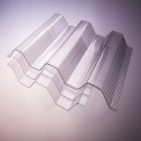 transparent polycarbonate corrugated plasitc roofing sheets for greenhouse