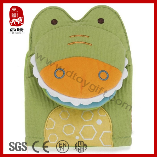 Exotic New product soft plush toy with safety mirror hand puppet for babies