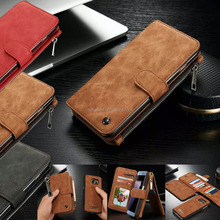 Removable Leather Card Wallet Flip Phone Case For Samsung S6 S7 S7 Edge