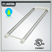 DLC u shaped t8 led tube light bulb 2ft with external and internal isolated driver