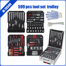599 pcs tool set aluminium case trolley tool kit for car repair ITEM:JX-TK599