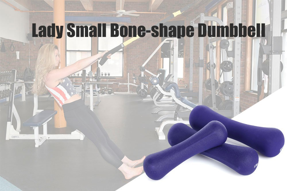 Free Shipping Lady Bone-shape Small Dumbbell Sports Slimming Equipment for Aerobics