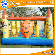 Custom Inflatable Bear Bouncy Castle Baby Bouncer With Mosquito Net For Sale