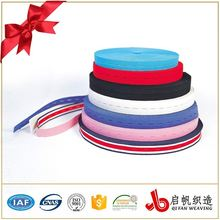 Custom button hole tape / loop elastic polyester band webbing tape