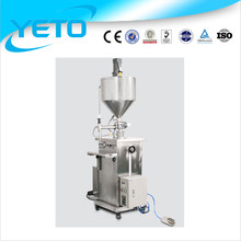 Semi-automatic high viscosity liquid/honey filling machine with heater , cosmetic cream filler and mixer