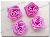 grosgrain ribbon bow /grosgrain ribbon flowers/handmade rose ribbon,widely used in clothing, shoes,hair clip