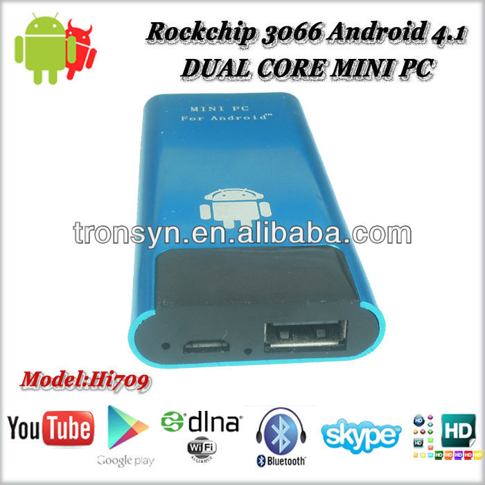Hot selling DUAL CORE MINI PC 1080p android tv box dvb t2