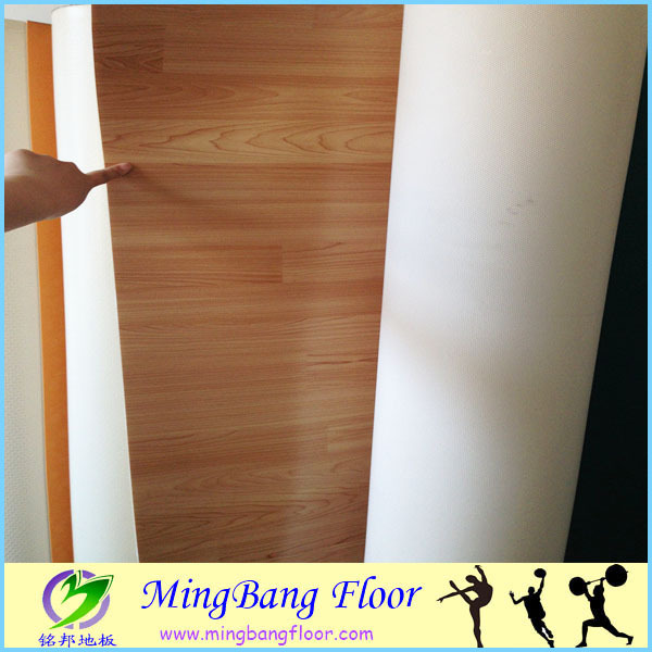 4mm vinyl flooring wood roll for dance room factory price