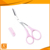 LFGB hot selling with brush beauty eyebrow cutting scissors
