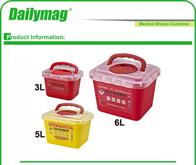 Top Quality Disposable Medical Waste Management Sharps Container Sharp Box