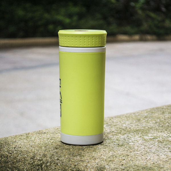 New Design 420ML Double Wall Insulated Glass Tea Tumbler With Tea Strainer