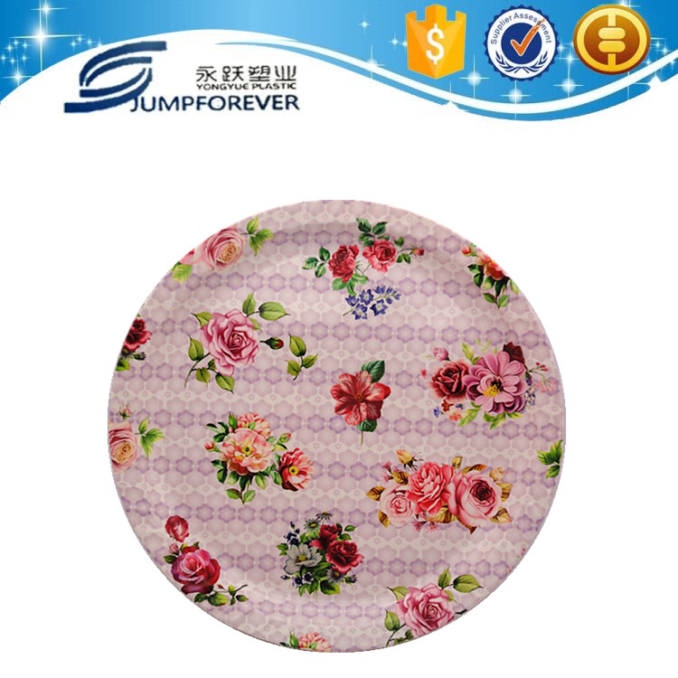 Round plastic plate, high quality plastic coffee plate
