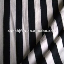 Cotton Stripe Single Jersey Knitted Textile Fabric