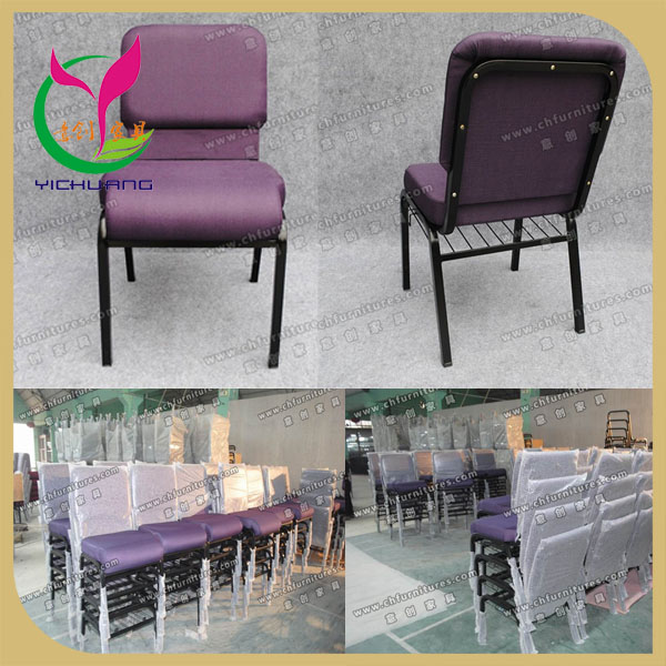 Made in China church furniture black frame chair furniture seating YC-G36AC
