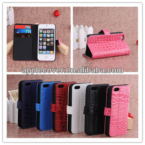 Hot sale! Crocodile Stand Case for iPhone 5s mobile phone, for iPhone 5s leather case