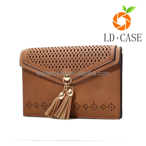Guangzhou factory quality Gorgeous Genuine Saffiano Leather bag Crossbody Phone Pouch for Women