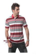 wholesale the most popular style yarn dyed men's t-shirt
