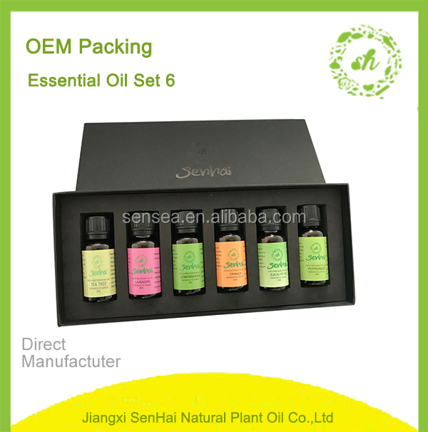 Organic ssential oil gift set diffuser essential oil gift set with design logo