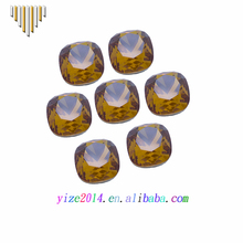 Fashion Design Champagne Color High Quality Square Shape Cubic Zirconia for Clothes Decoration