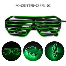 customized flashing multi colour el wire flashing led sunglasses