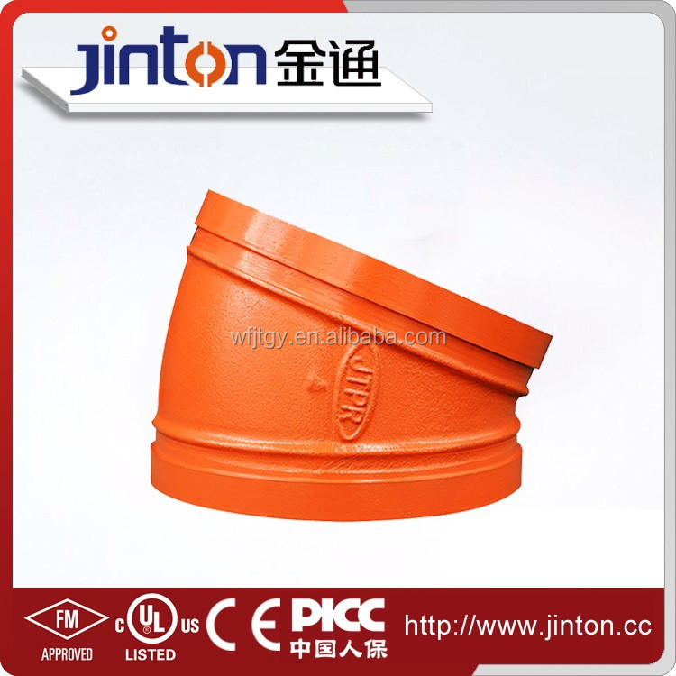 fm ul approved factory provide directly best selling pipe fitting elbow