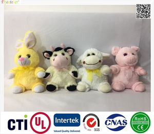 Direct deal High Quality plush toy four styles animal rabbit,cattle,sheep,pig