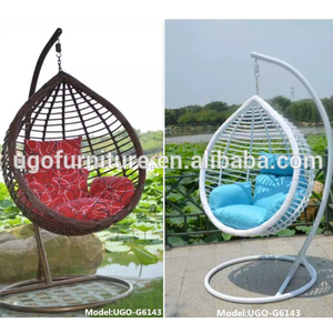 2018 New design rattan swing chair balcony hanging chair hot selling