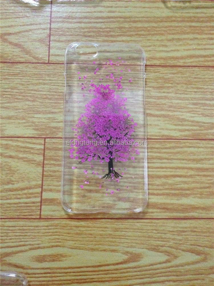 best selling PC luxury tree mobile phone cases for Samsung with true flower