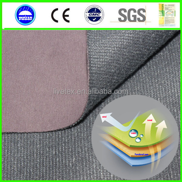 Breathable cotton <strong>nylon</strong> PU lamination fabric laminated