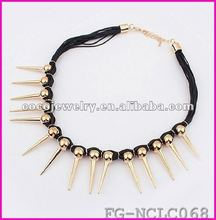 2012 new styles European Style Fashion spike Necklace