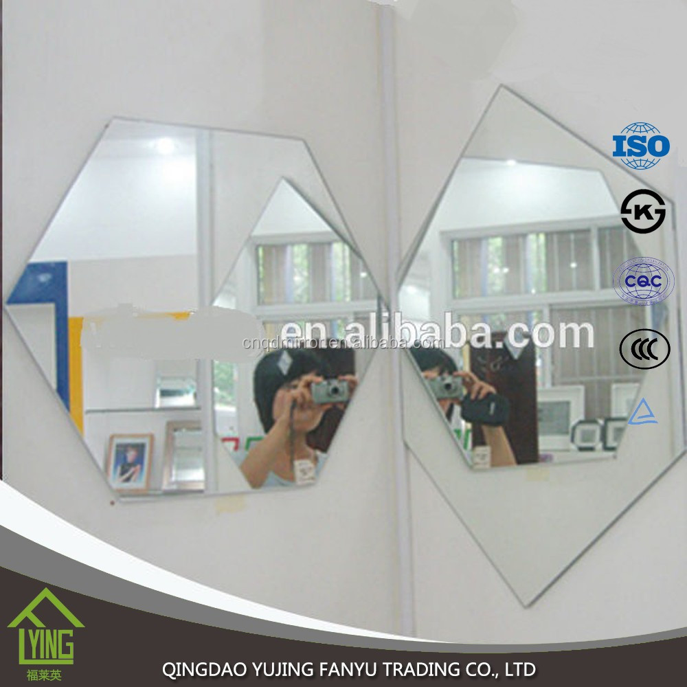 3mm 4mm 5mm low price wall mirror cut to size mirror piece