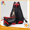 2016 Fashion Chinese style leather 3 pieces double strap casual travel shoulder bag