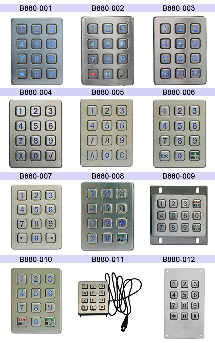 bluetooth numeric keypad digital door locks keypad backlit keypad