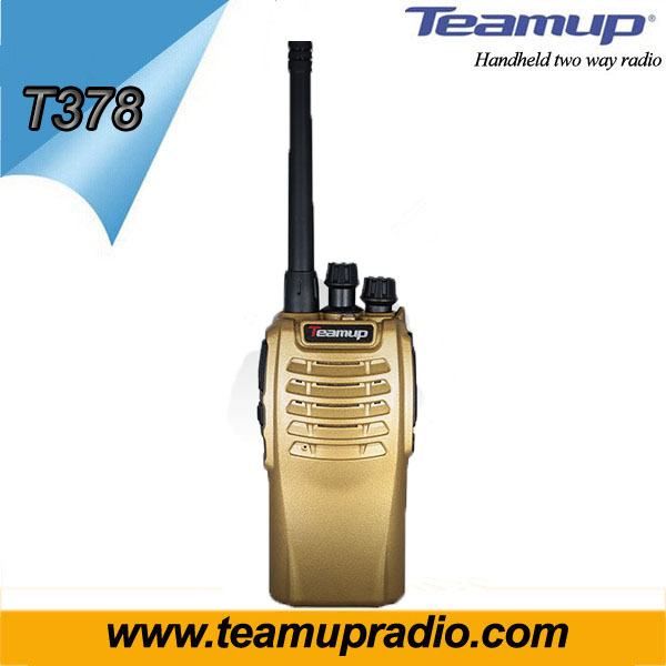 Teamup T378 gold color radio with Emergency 5w single band two way radio