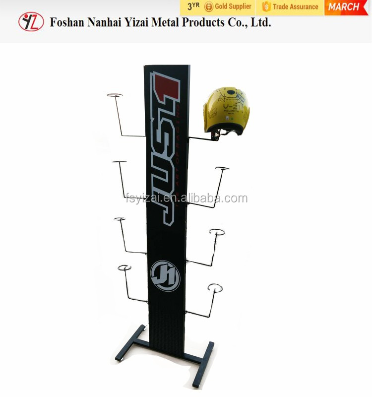 Fashion Motorcycle helmet display stand/ Hat display rack for Retail Store