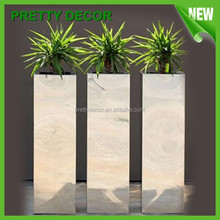 Tall Cubic Floral Ftainless Steel Pots/Planter