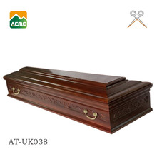 AT-UK038 luxury american pecan coffin supplier