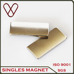arc segment Shape and NdFeB Magnet Composite rare earth rotor magnet