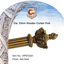 32mm Rod diameter curtain pole with resin finial
