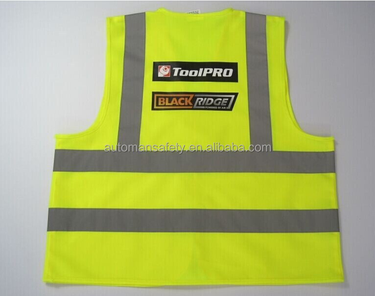 2015 Cheap yellow safety reflective vest