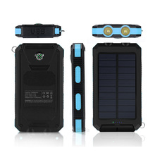 wholesale full capacity 10000mah waterproof solar power bank,Compass solar power bank
